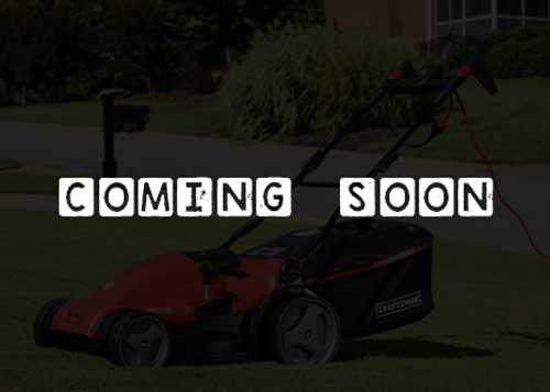 Electric lawn mower coming soon
